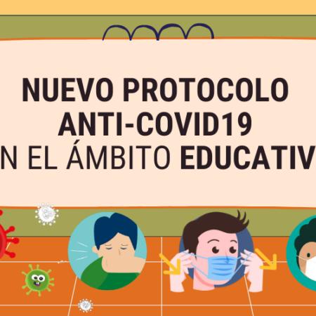 NUEVO PROTOCOLO anti-COVID19 en el sector educativo